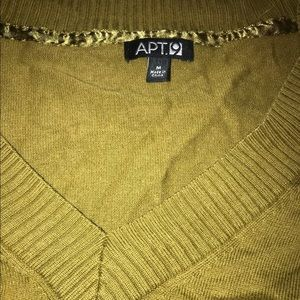 Apt. 9 Sweaters - Apt. 9 Olive Green Yellow V Neck Button Sweater M